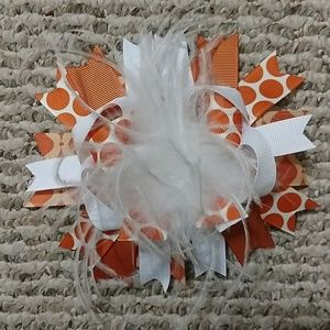 Other - Burnt Orange & White Bow